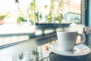 window view and coffee